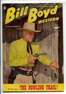Bill Boyd Western #18 1951-Fawcett-Portrait cover-Howling Trail-Hopalong Ca...