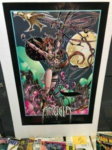 ANGELA Promo Poster Image Comics Todd McFarlane 34 x 22.5 1994 Flat