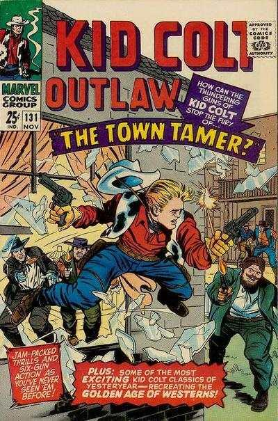Kid Colt Outlaw #131, VG- (Stock photo)