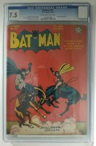 Batman #21~1944 DC~CGC 7.5 (VF-)~Penguin Appearance