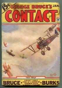 GEORGE BRUCE'S CONTACT 01/1934-WWI AVIATION-BI-PLANE-FRANK TINSLEY -good/vg