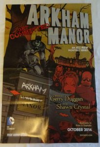 ARKHAM MANOR Promo Poster , 22 x 33, 2014,DC,  Unused more in our store 047