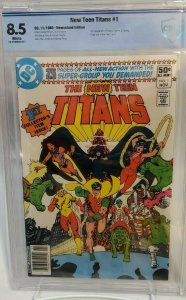New Teen Titans #1 - CBCS 8.5 - NEWSSTAND Edition - WHITE PAGES