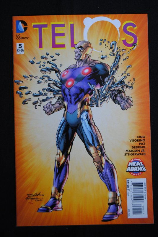 Telos, #5, Great Neal Adams Variant Cover, NM
