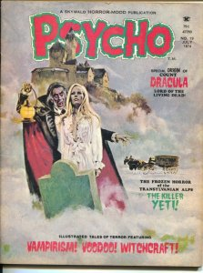 Psycho #19 1974-Skywald-origin of Count Dracula-yeri-voodoo-Lady Satan-VG+