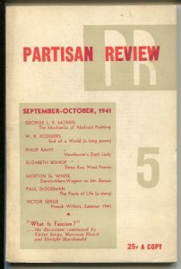 Partisan Review 9/1941-Dark Lady Of Salen-Philip Rahv-pulp format-FN