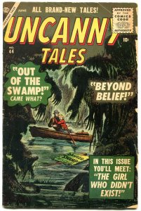 Uncanny Tales #44 1956- Out of the Swamp- Atlas Horror VG