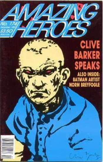 AMAZING HEROES 174 VF-NM CLIVE BARKER SPEAKS; BREYFOGLE