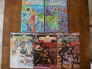 5 Comic: ATLANTIS CHRONICLES #1(Deluge) #3 (Youth) THE CHROMIUM MAN #0 #1 #2