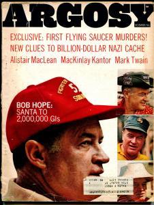 Argosy 12/1967-Bob Hope-Flying saucers-Nazi's-NASCAR-Petty-pulp-VG