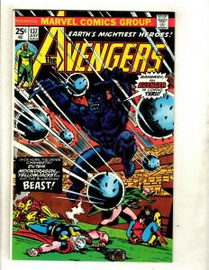 Lot Of 5 Avengers Marvel Comics # 137 138 139 140 141 Thor Hulk Iron Man GK2