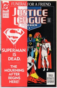 DC Comics Justice League America #70 Collector's Edition Paper fold-over cover