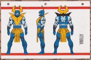 Official Handbook of the Marvel Universe Sheet- Attuma