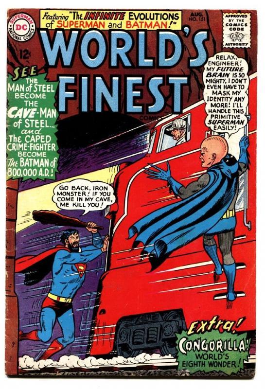 worlds finest 151 comic book 1965 dc comics batman superman hipcomic