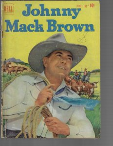 Johnny Mack Brown #5 (Dell, 1951) - DOUBLE COVER