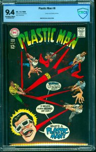 Plastic Man #8 CBCS NM 9.4 Off White to White