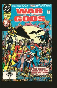 DC Comics War of The Gods No 1 September 1991 Intact with Mini Poster