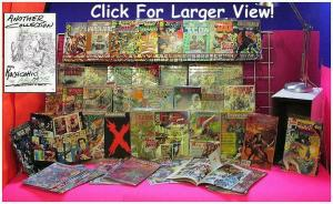 POLYBAGGED W/CARDS COMICS Collection  PT I   65 diff