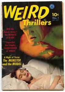 Weird Thrillers #1 1951- RONDO HATTEN- Golden Age Rare Horror G/VG