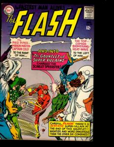 The Flash # 155 VF DC Comic Book Captain Cold Trickster Grodd Justice League NE3