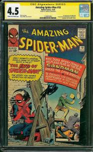 Amazing Spider-man #18 (Marvel, 1964) CGC 4.5 SS Stan Lee