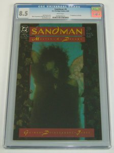 Sandman #8 CGC 8.5 white pages - 1st appearance of Death - neil gaiman dc 1989