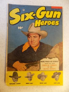 SIX-GUN HEROES # 21 GOLDEN AGE WESTERN HOPALONG LANE LARUE