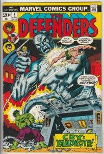 Defenders, The #5 (Apr-73) NM- High-Grade Hulk, Dr. Strange, Silver Surfer, N...