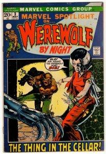Marvel Spotlight #3 - 2nd App Werefolf By Night MARVEL Horror