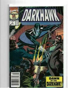 DARKHAWK #1 - VF+ - NEWSTAND EDITION - COPPER AGE KEY