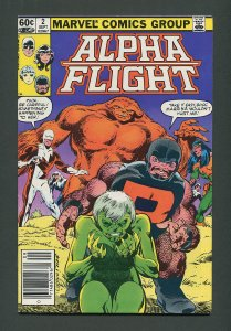 Alpha Flight #2  / 7.5  VFN-  Newsstand  September 1983