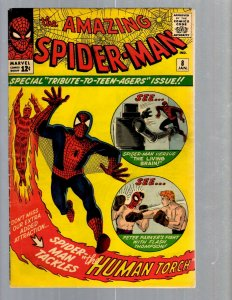 Amazing Spider-Man # 8 VF Marvel Comic Book Lizard Vulture Human Torch TJ1