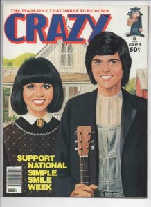 CRAZY #28 Magazine, VF/NM, Donny and Marie Osmond, 1973 1977, more in store