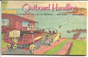 Outboard Handling #4162 1960-boat, motor & trailer use-comic art-VG