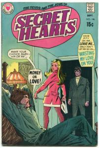 Secret Hearts #146 1970-DC-hippies-spicy art--VG