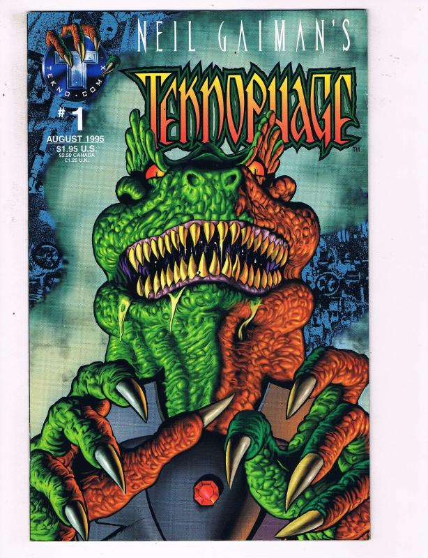 Neil Gaimans Teknophage #1 VF Tekno Comix Comic Book 1995 DE19