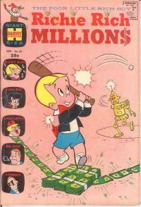 RICHIE RICH MILLIONS (1962-1982) 30 VG-F Aug. 1968 COMICS BOOK