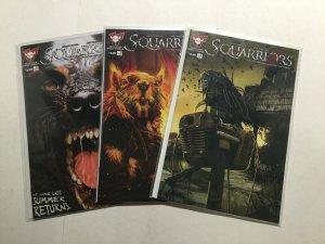 Squarriors 1-3 1 2 3 Vol 2 Lot Run Set Near Mint Nm Devil's Due 1First Comics