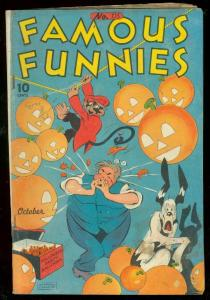 FAMOUS FUNNIES #135 1945-BUCK ROGERS-RARE DOUBLE COVER VG/FN