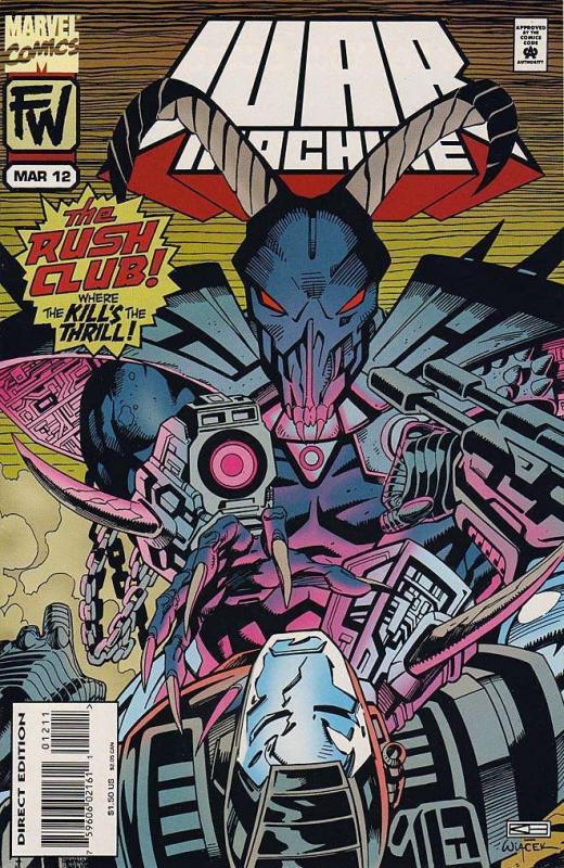 WAR MACHINE (1994) 12-14 RUSH CLUB complete story arc