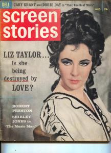 Screen Stories-Elizabeth Taylor-John Wayne-Paul Newman-Aug-1962
