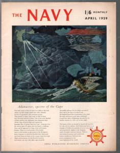 Navy 4/1959-Historic pix & info on British Navy-VG