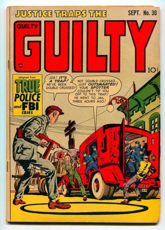 JUSTICE TRAPS THE GUILTY #30 1951-HEADLINE PUBLISHING-SIMON-KIRBY-VG+