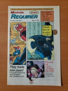 Marvel Requirer #1 Promo Ghost Rider ~ NEAR MINT NM ~ 1990 Marvel Comics