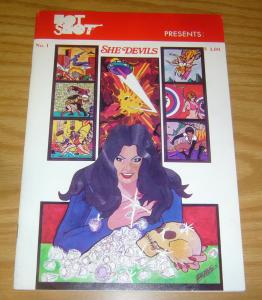Hot Shot Presents She Devils #1 VF- early work by george perez - bruce lee 1975
