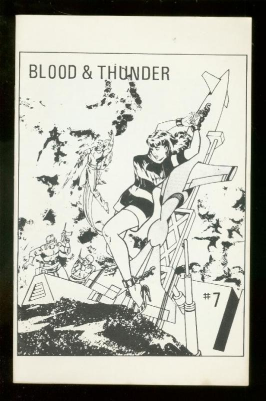 BLOOD AND THUNDER FANZINE #7 1967-ORIGINAL COMIC STRIPS FN/VF