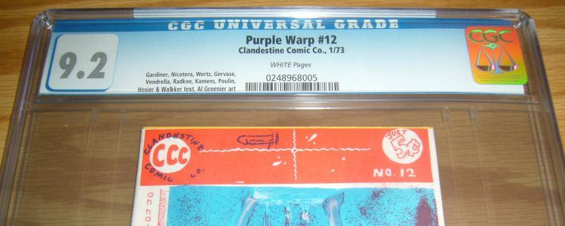 Purple Warp #12 CGC 9.2 tiny print run - high grade underground comix 1973