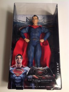 Barbie Collector Black Label Superman doll Mint in sealed box 2016 Batman v