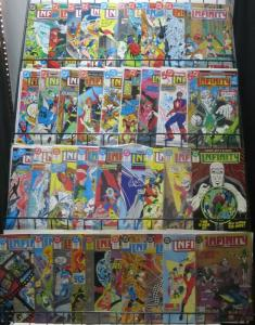 INFINITY INC COLLECTION! 39 issues F-VF Todd McFarlane! Roy Thomas! Kids of JSA!