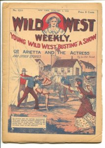 Wild West Weekly #1211 1/1/1926-Busting A Show-pulp fiction-G/VG